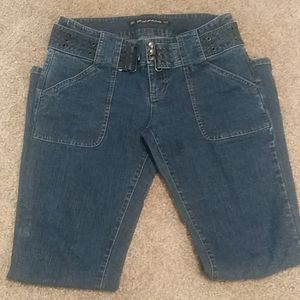 DKNY Size 9 Belted Jeans